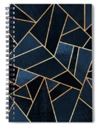 Navy Stone Spiral Notebook