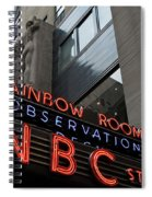 Nbc Studio Rainbow Room Sign Spiral Notebook