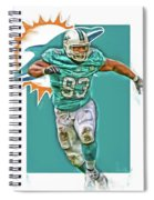 Ndamukong Suh Miami Dolphins Oil Art Spiral Notebook