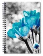 Near Bloom Blue Spiral Notebook