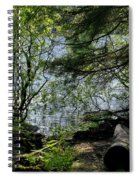 Near Water Of The Forest Lake. Spiral Notebook