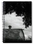 Nebraska - Barn - Black And White Spiral Notebook