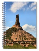 Nebraska Chimney Rock Panorama Spiral Notebook