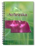 Nebraska Map Spiral Notebook