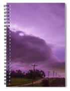 Nebraska Night Thunderstorms 008 Spiral Notebook