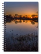 Nebraska Sunset Spiral Notebook