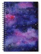 Nebula Watercolor Galaxy Spiral Notebook