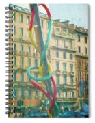 Needle And Thread Milan Italy Spiral Notebook