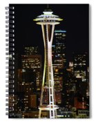 Needle At Night Spiral Notebook