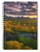 Needle Rock Sunrise Spiral Notebook