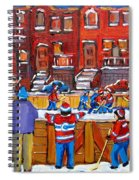 Neighborhood  Hockey Rink Spiral Notebook