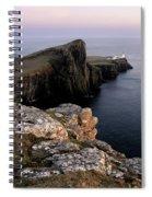 Neist Point Lighthouse, Isle Of Skye, Scotland Spiral Notebook