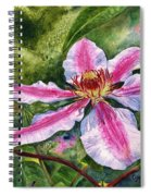 Nelly Moser Clematis Spiral Notebook