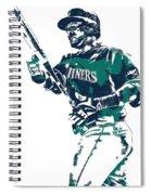 Nelson Cruz Seattle Mariners Pixel Art 5 Spiral Notebook