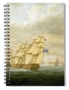 Nelson's Inshore Blockading Squadron At Cadiz, July 1797 Spiral Notebook