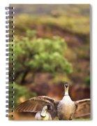 Maui Hawaii Haleakala National Park Nene Hawaiian State Bird Spiral Notebook