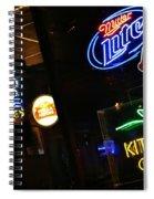 Neon Bar Signs Spiral Notebook