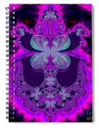 Neon Butterflies And Rainbow Fractal 137 Spiral Notebook