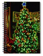 Neon Christmas Tree Spiral Notebook