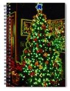 Neon Christmas Tree Spiral Notebook