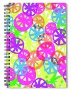 Neon Circles Spiral Notebook