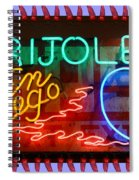 Neon Frijoles And Peppers And Gas Spiral Notebook