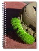 Neon Geen Caterpillar Loves Crocs Spiral Notebook