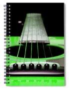 Neon Green Guitar 18 Spiral Notebook