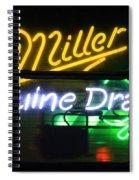 Neon Miller Beer Spiral Notebook