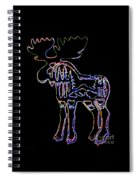 Neon Moose Spiral Notebook