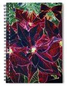 Neon Poinsettias Spiral Notebook