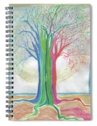 Neon Rainbow Tree By Jrr Spiral Notebook