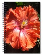 Neon-red Hibiscus 6-17 Spiral Notebook