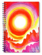 Neon Red Sky And Sea Spiral Notebook