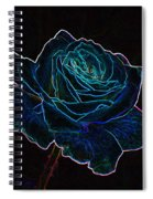 Neon Rose 3 Spiral Notebook