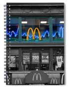 Neon Twin Towers Spiral Notebook