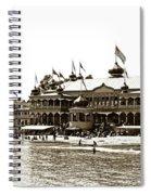 Neptune Casino And Onion-domed Bandstand, Santa Cruz Beach Circa 1904 Spiral Notebook