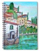 Nesso Village In Lake Como Spiral Notebook