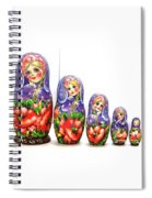 Nesting Doll Poppies Spiral Notebook