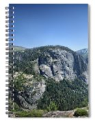 Nevada And Vernal Falls From Near Grizzly Peak - Yosemite Valley Spiral Notebook