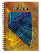 Nevada Map Spiral Notebook