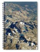 Nevada Mountain Terrain Aerial Lakes Spiral Notebook