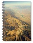 Nevada Mountain Terrain Aerial Spiral Notebook