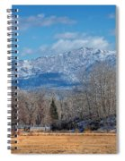 Nevada Ranch In Winter Spiral Notebook