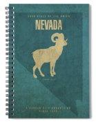 Nevada State Facts Minimalist Movie Poster Art Spiral Notebook
