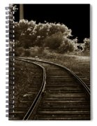 Never A Straight Path Spiral Notebook