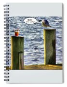Never Drink And Fly Spiral Notebook
