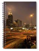 Never Sleeping Atlanta In Motion Midtown Light Trails Art Spiral Notebook
