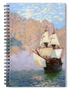 New Albion. Sir Francis Drakes Ship Spiral Notebook