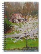 New Blossoms Old Barn Spiral Notebook